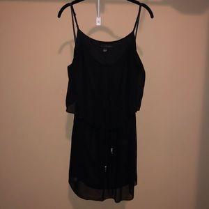 Size Large Black Open-back Dress